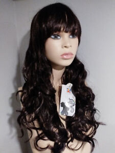 NEW WITH TAGS: DELUXE Dark Brown Curly Cosplay Wig
