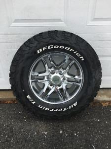 "17"" American Racing Chrome Wheels & BFGoodrich T/A K02's"
