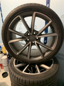 Audi Factory Mag Wheels and Nokian Summer Tires (19 Inch)