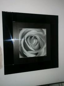 Black glass framed picture