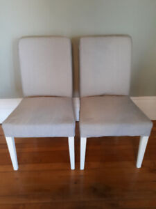 Pair of matching Ikea Henriksdal Chairs - like new/mint