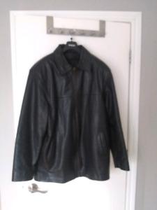 Manteau en cuir large