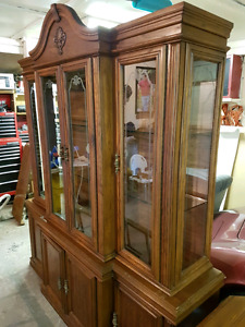 China cabinet and dining table set