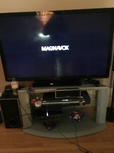"LED LCD 50"" Magnavox flat screen tv"