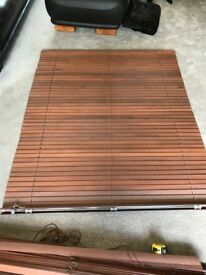Wooden Window Blinds - 6x fully working with fittings