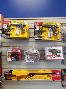 GREAT SELECTION OF PELLET AND BB GUNS!!