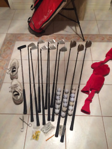 Gorgeous Wilson Irons, Driver/Wood Clubs w/ Stand Bag - $Red'd