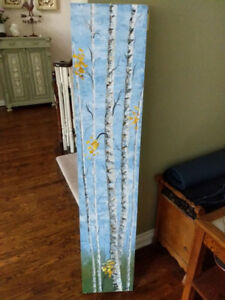 Painting of birch trees