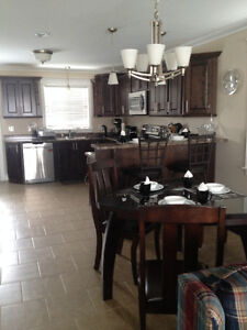 3 bedroom furnished upstairs apartment in Home