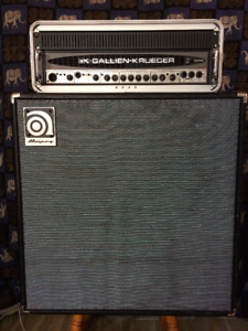GK 1001RB bass head / Ampeg 212 cab