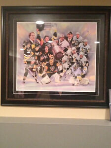 Framed Pittsburgh Penguins Painting