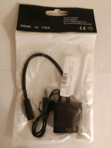 MINI HDMI to VGA Adapter with Audio (New)