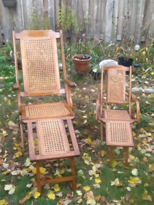 Steamer Folding Deck Chairs Adult & Child Sizes 1871 Collignon