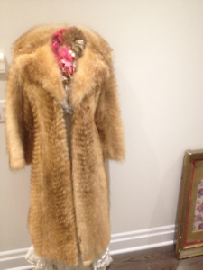 Red FOX FUR long coat