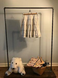 White Cotton Pleated Skirt