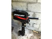 Mercury 5 hp outboard boat engine