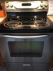 Stainless steel KitchenAid electric stove