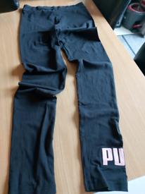 Black puma leggings age 13 -14