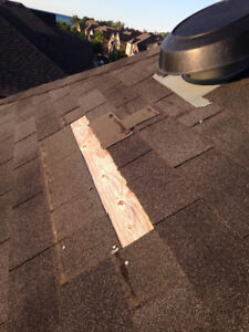 Need wind blown shingles replaced