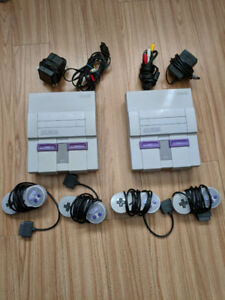 super Nintendo systems with 2 controllers each