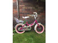 Girls bike suitable for age 3-6 years