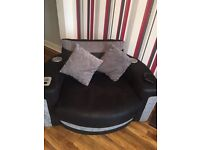 Corner sofa with sound chair & Bluetooth like new