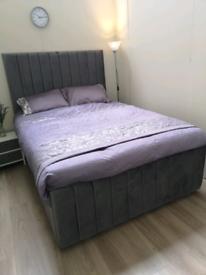 Stunning French plush manhatton divan bed