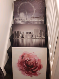 3 Large Canvas Pictures