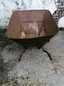 Vintage Extra Large Wheel barrow