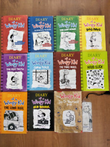 Diary of a Wimpy Kid books 1 to 10 with diy book