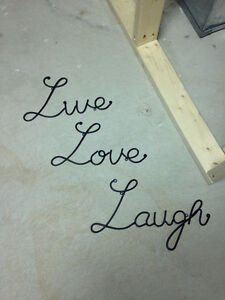 Live, Love, Laugh Metal Wall Words