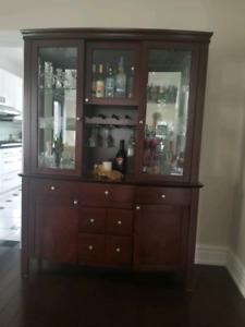Solid Wood Cabinet & Hutch