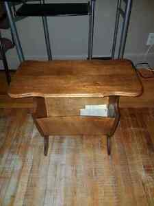 Small old wooden table