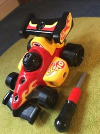 Racing Car Toddlers Construction Toy