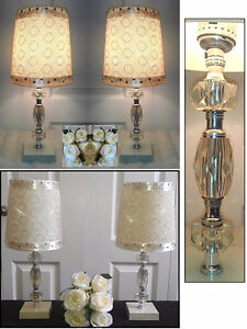 """2 Vintage LEVITON Table Lamps H 17"""" (TEXT / CALL Only)"""