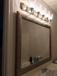 Beautiful Mirror and Light Fixture