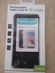 S6 edge rechargeable power case.   BNIB.