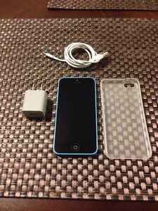 UNLOCKED BLUE APPLE iPHONE 5C 32GB - MINT!