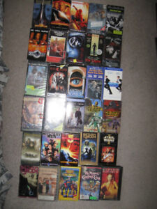 30 VHS movies,Sopranos vhs Box set + 2 dvds for $5
