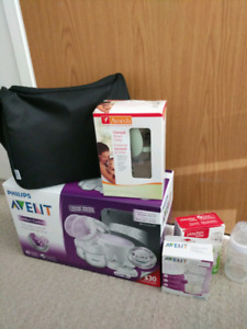 Philips Avent Double Electric Breast Pump *bonus Ameda manual bp