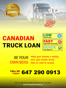 Truck loans consultation services in Canada