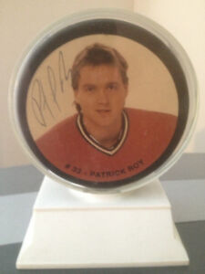 PATRICK ROY AUTOGRAPHED HOCKEY PUCK WITH CERTIFICATE