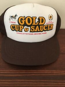 Gold Cup And Saucer 25th Anniversary 1984 Hat