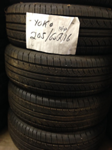 PNEU ETE 4 SAISONS 205/60r16 YOKOHAMA 300$ pour 4