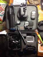 Go pro hero 3+ with case wifi remote tons of mounts extra batter