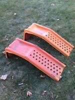 Winter mats, snow pusher, steel ramps for sale