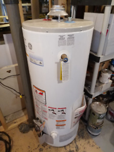 GE natural gas hot water heater, 40 gallon
