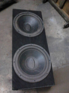 "Memphis audio 15"" subs with amp"