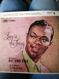 "7"" vinyl EP Nat King Cole Love Is The Thing"