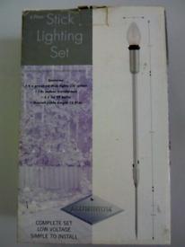 6 piece aluminium garden sick lighting set new
